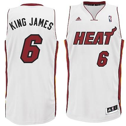 new style 5b83d da6a4 Amazon.com : Adidas Men's NBA Miami Heat King James Swingman ...