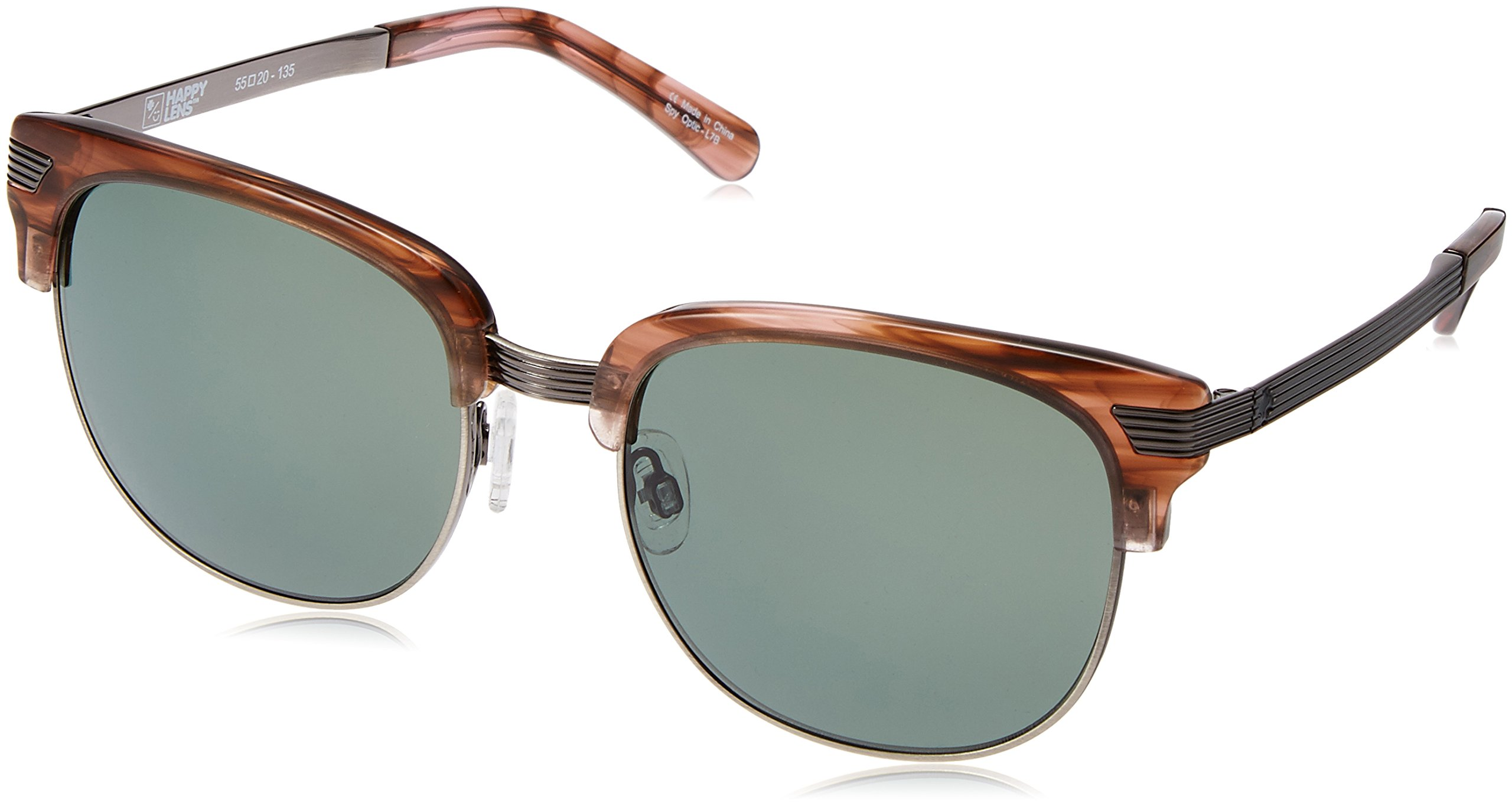 Spy Bleecker Sunglasses - Happy Lens Pink Smoke - Happy Gray Green, One Size by Spy