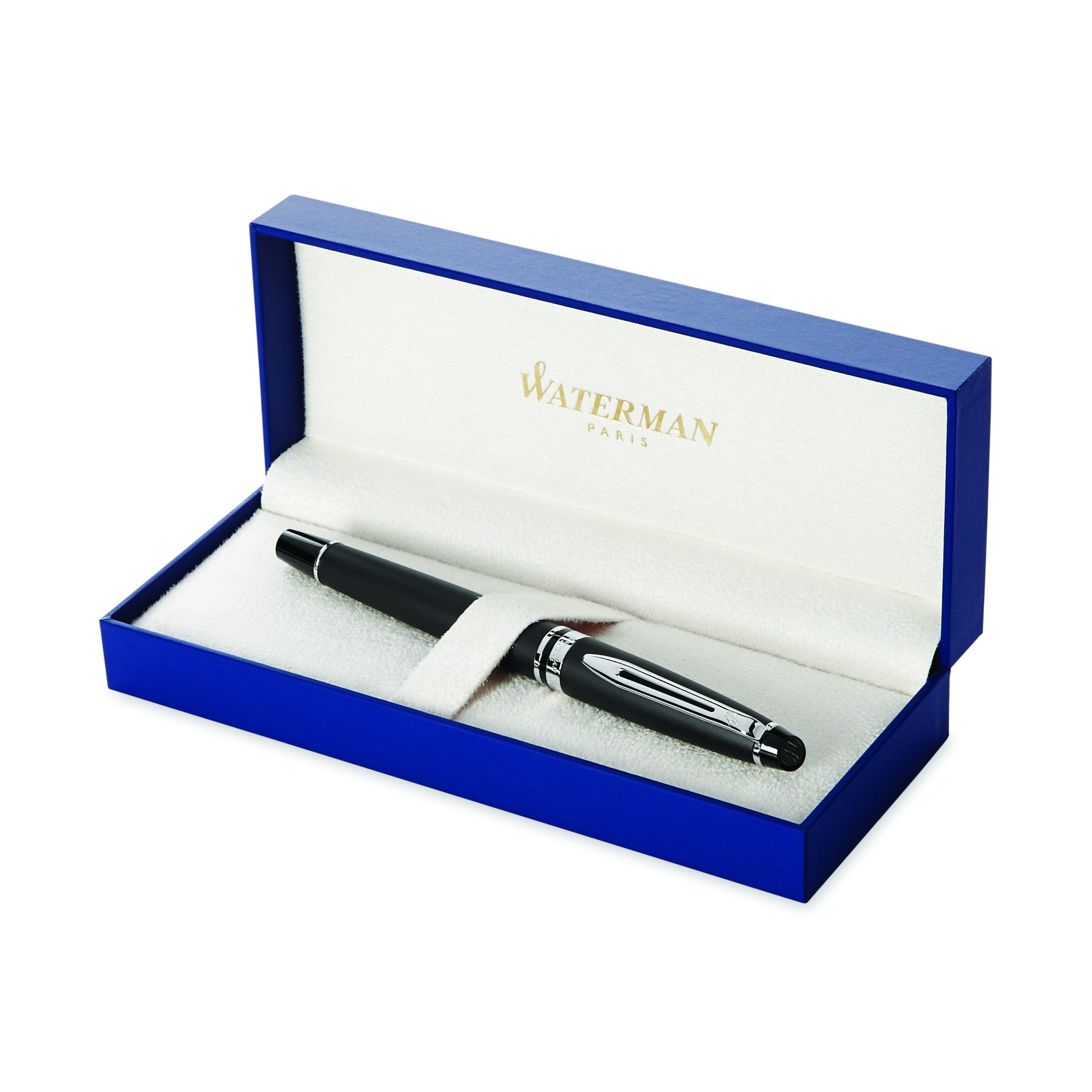Waterman Expert Matte Black, Fountain Pen with Medium nib and Blue ink (S0951860)