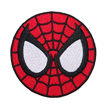 amazon com amazing spider man face logo marvel superhero costume rh amazon com