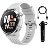 Coros APEX Premium Multisport GPS Watch with Heart Rate Monitor, Sapphire Glass and Wearable4U Power Bank Bundle (46mm White