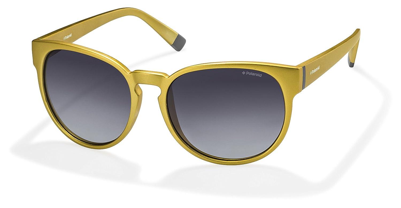 1e5ec067f5 Marca Polaroid PLD6007 polarizado mujeres '' s ojo de gato gafas de sol oro  plástico marco negro lentes 100% UV 400 protección y Anti-Glare Premium ...