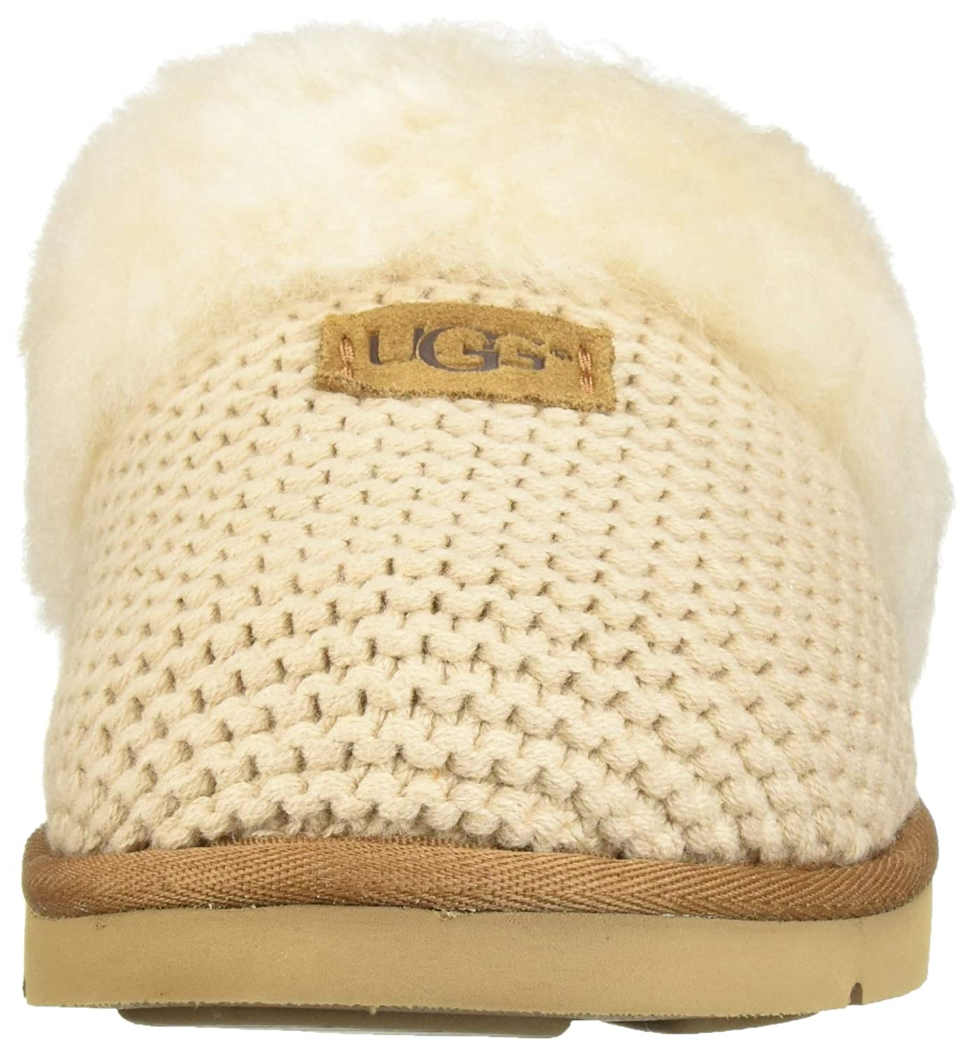 4ff8a3d31 UGG - Cozy Knit Slippers - Cream - Soft Sheepskin Slippers (39 EU):  Amazon.co.uk: Shoes & Bags