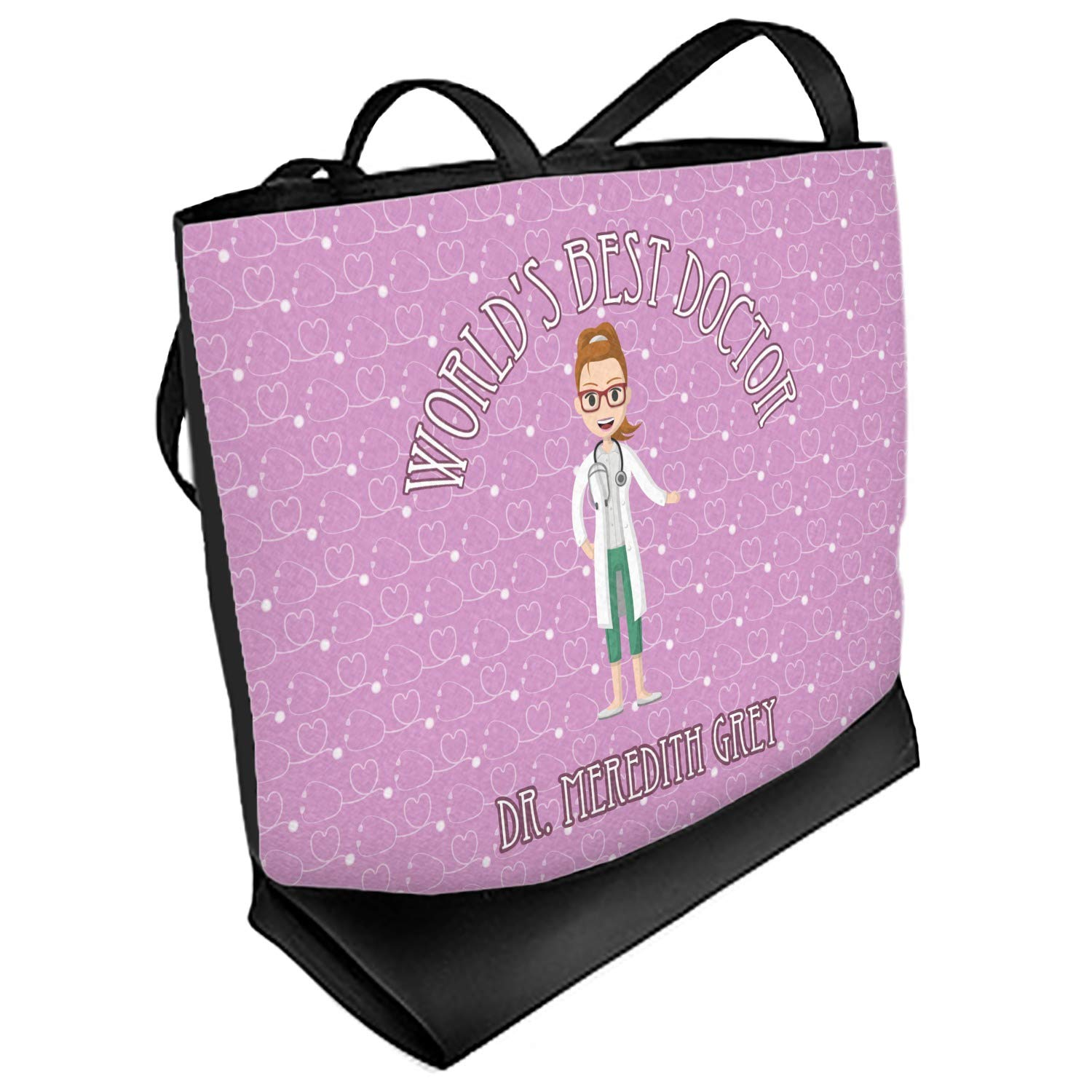 Front Regular Personalized Doctor Avatar Beach Tote Bag