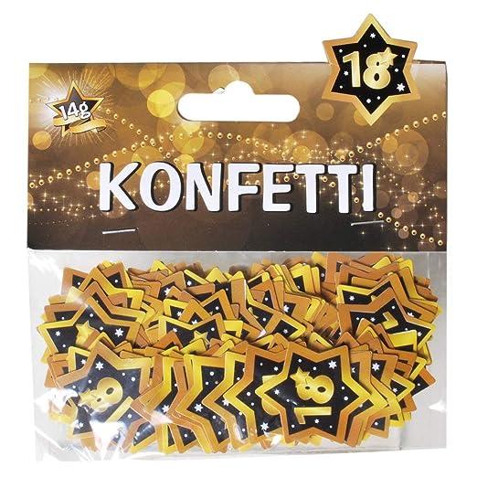 UDO Schmidt GmbH - Confeti con números 18, en Negro y Dorado ...