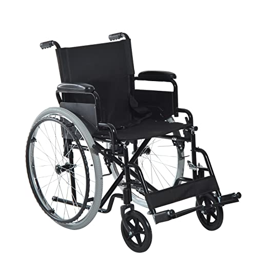 Amazon Com Homcom Foldable Lightweight Manual Wheelchair W