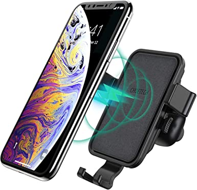 CHOETECH Wireless Car Charger, Auto-Clamping Air Vent Phone Holder with Aroma Diffuser,10W Max Fast Charging Car Mount Compatible with iPhone 11 11 Pro 11 Pro Max XS Max XS X 8,Galaxy Note 10 S10 S9