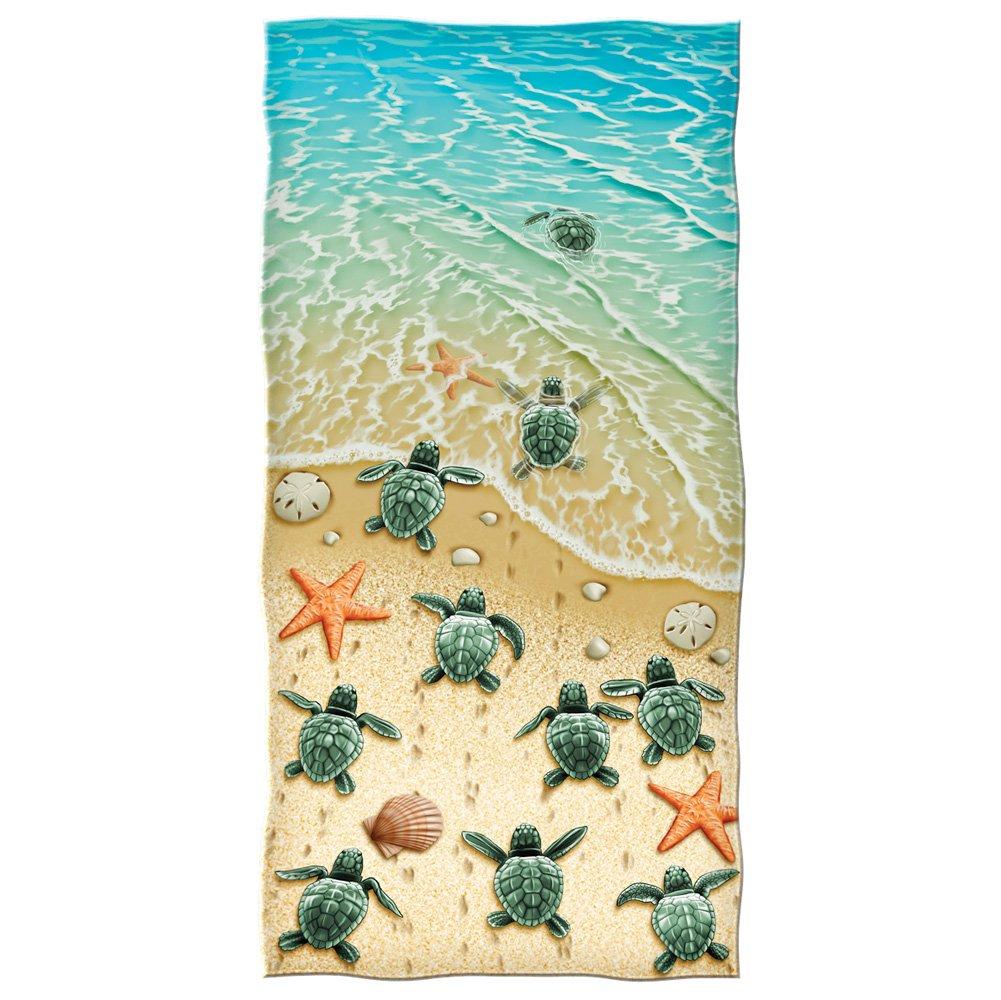 beach towel. Amazon com  Dawhud Direct Turtles on the Beach Cotton Towel Home Kitchen