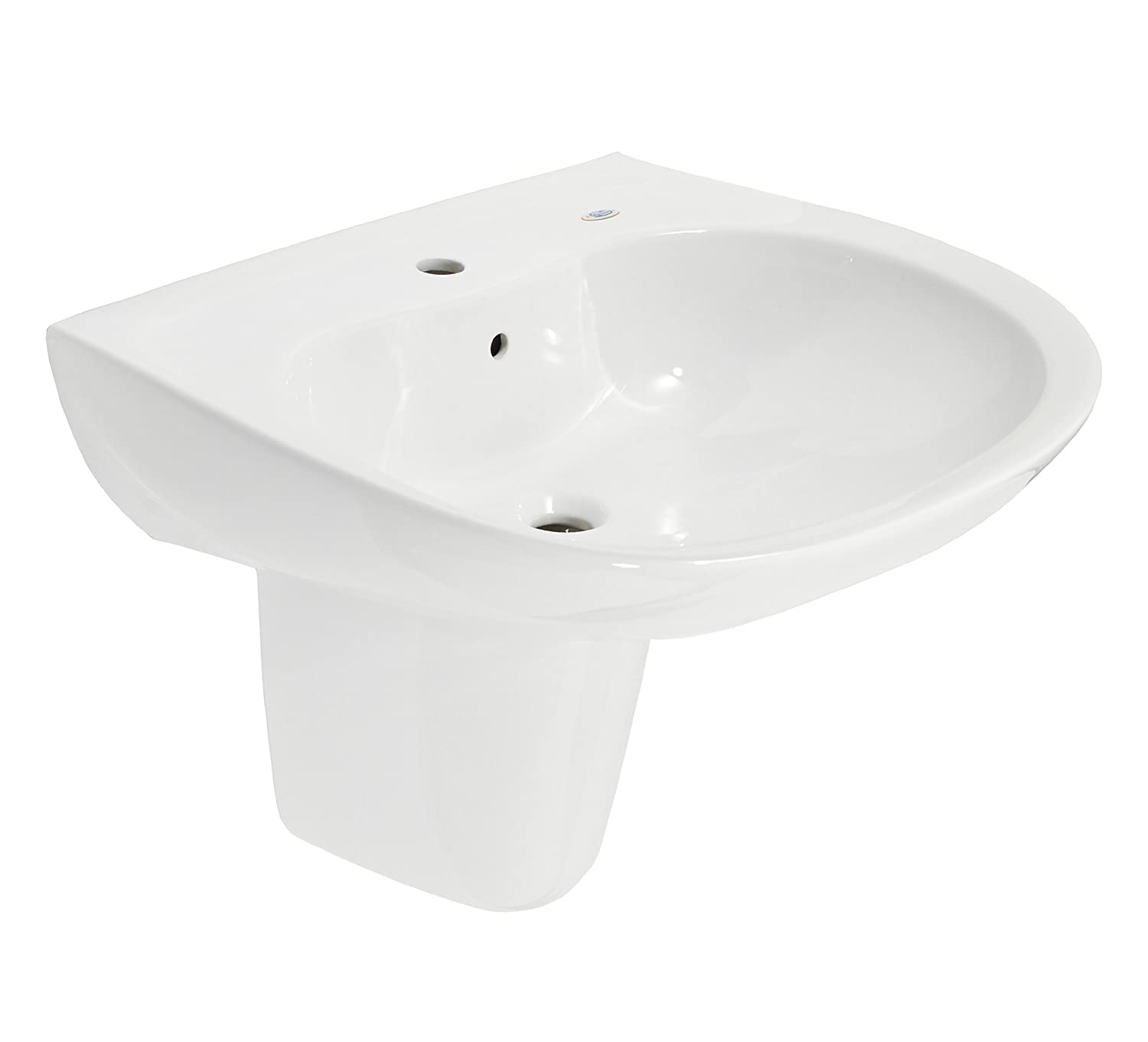 TOTO LHT242G#01 Prominence Lavatory and Shroud with Single Hole, Cotton White durable service