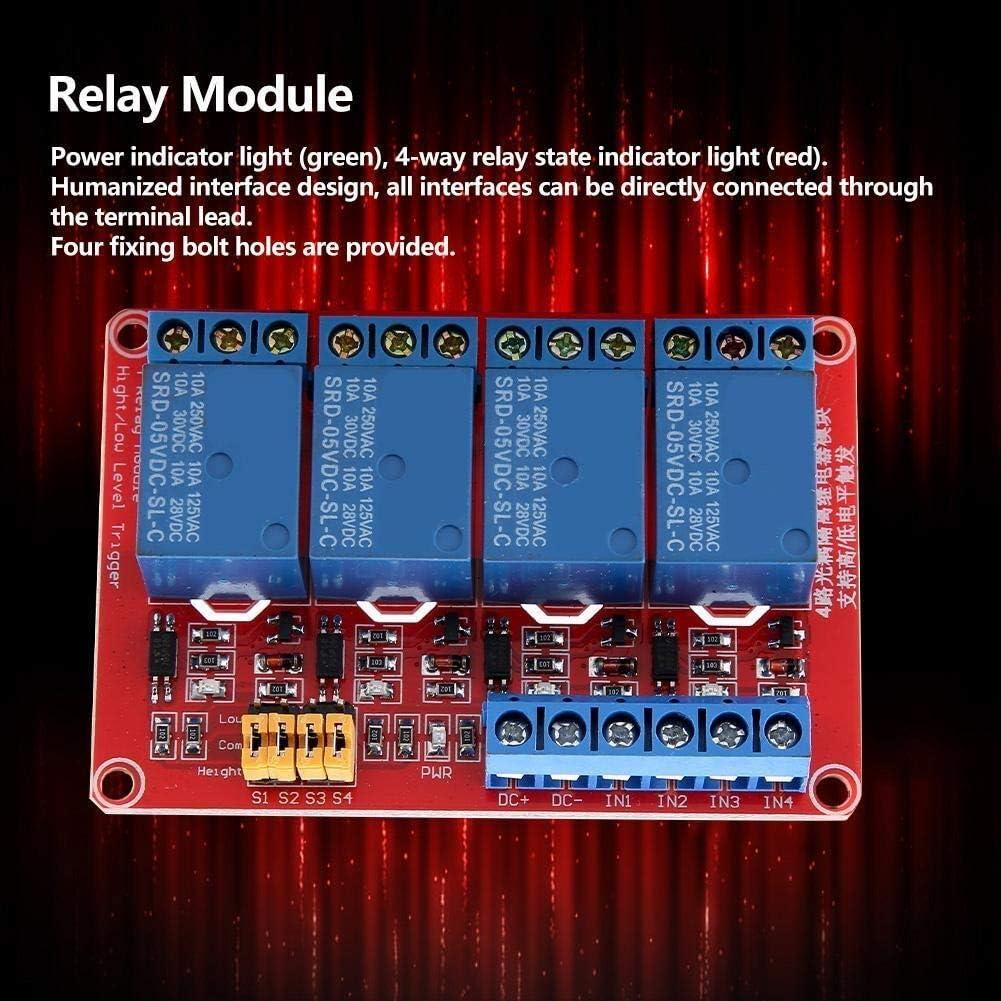 5V 4-Kanal-Optokoppler Relay-Modul-Brett High /& Low Trigger-Relaismodul Elektronisches Relais