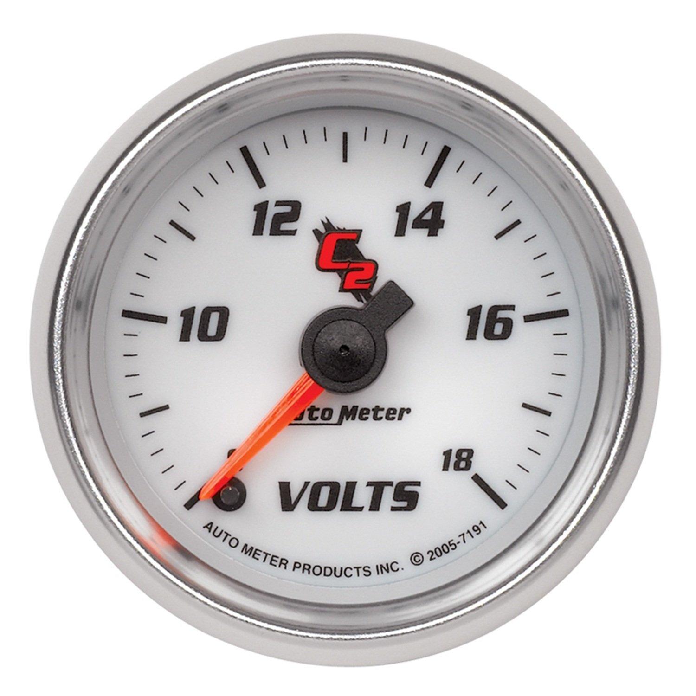 Auto Meter 7191 C2 Full Sweep Electric Voltmeter Gauge