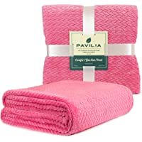 PAVILIA Luxury Soft Plush Throw Blanket for Couch Sofa | Silky Velvet Fleece Chevron Pattern Throw | Cozy Warm Lightweight Microfiber | All Season Use | 50 x 60 Inches