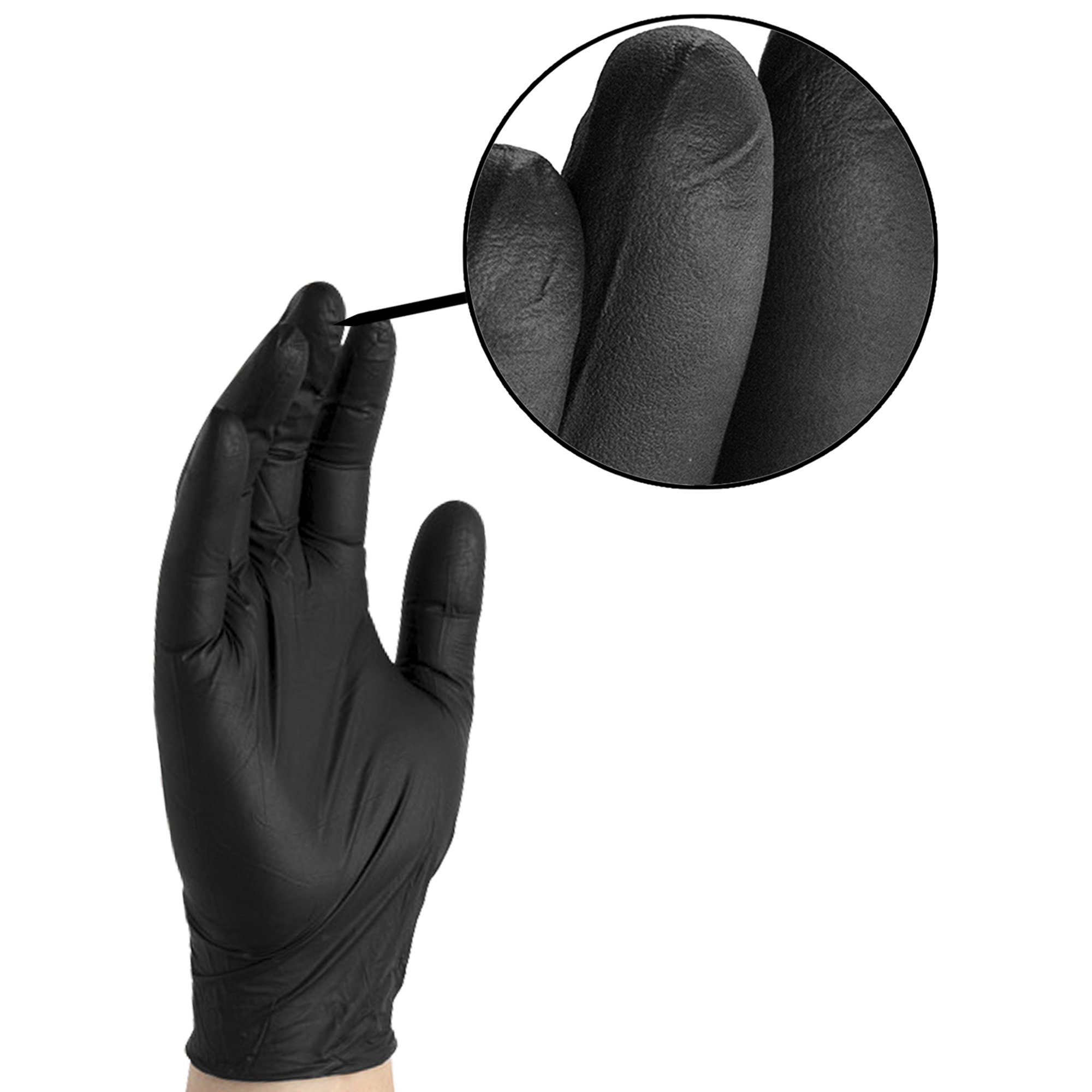 AMMEX - BINPF46100 - Industrial Nitrile Gloves - Gloveworks - Disposable, Powder Free, 5 mil, Large, Black (Case of 1000) by Ammex (Image #4)