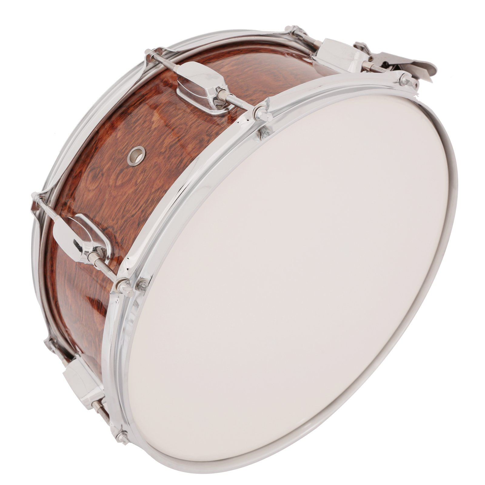 LAGRIMA Student Beginner Snare Drum W/Drum Key, Drumsticks and Strap|14x5.5 inch|Real Wood Shell|8 Metal Tuning Lugs by LAGRIMA (Image #3)