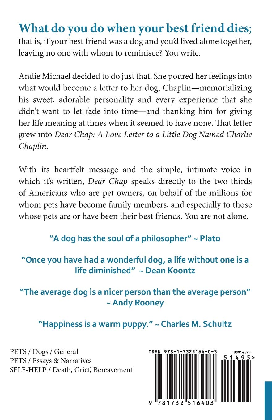 Dear Chap A Love Letter To A Little Dog Named Charlie Chaplin