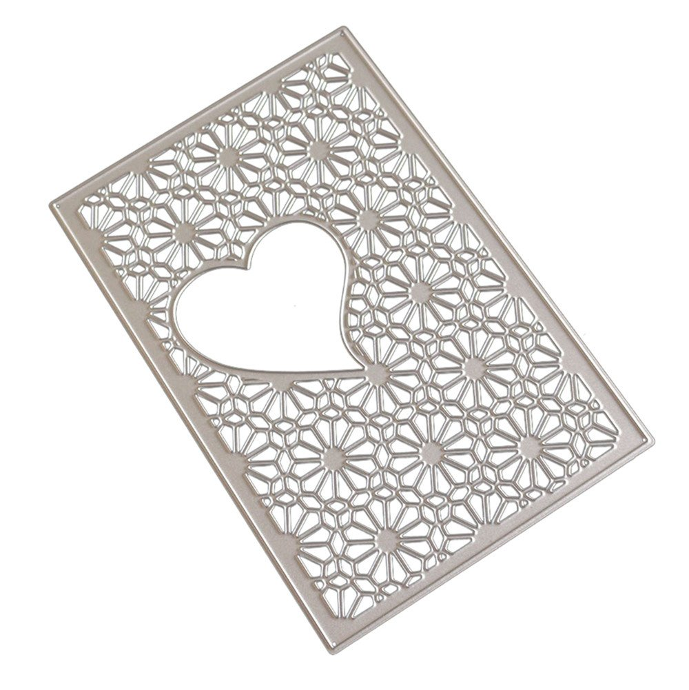 DIPOLA New Flower Heart Metal Cutting Dies Stencils DIY Juego de Troqueles Cutting Pad Replacements para Máquina Troqueladora y Estampadora, ...