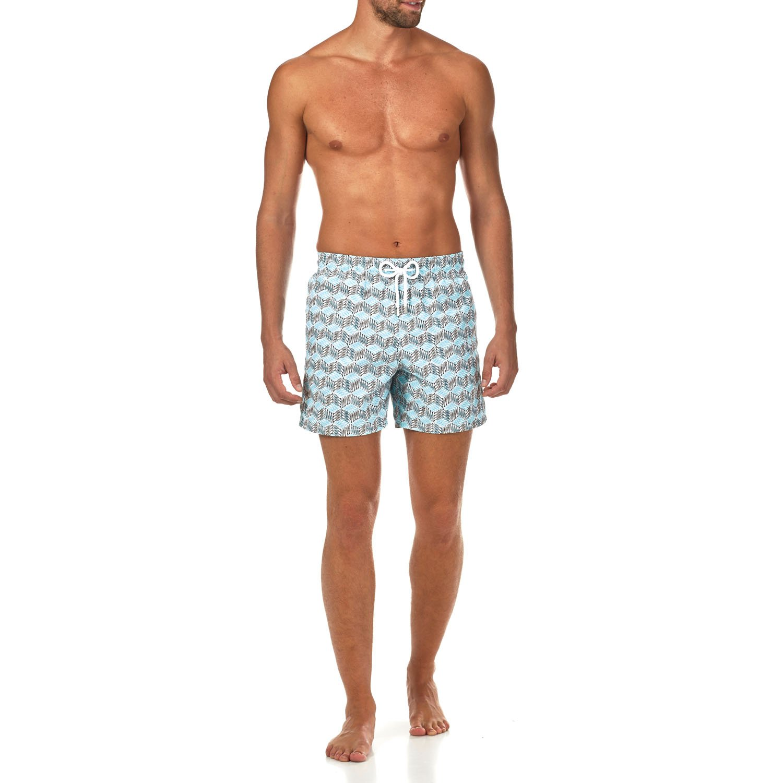 Vilebrequin Fishes Cube Swim Shorts - Men - Azure - L