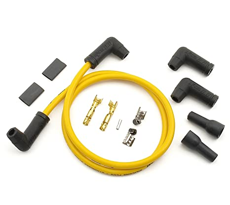 ACCEL 170085 8.8mm Yellow Universal Spark Plug Wire Set on