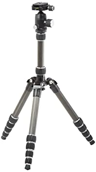 AmazonBasics 52-Inch Carbon Fiber Travel Tripod with Bag (Black) Tabletop & Travel Tripods at amazon