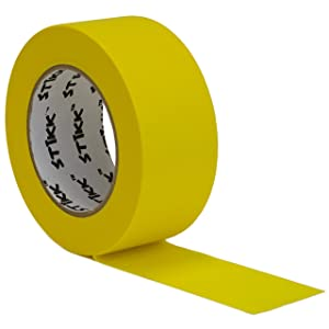 """2"""" inch x 60yd STIKK Yellow Painters Tape 14 Day Easy Removal Trim Edge Finishing Decorative Marking Masking Tape (1.88 in 48MM)"""