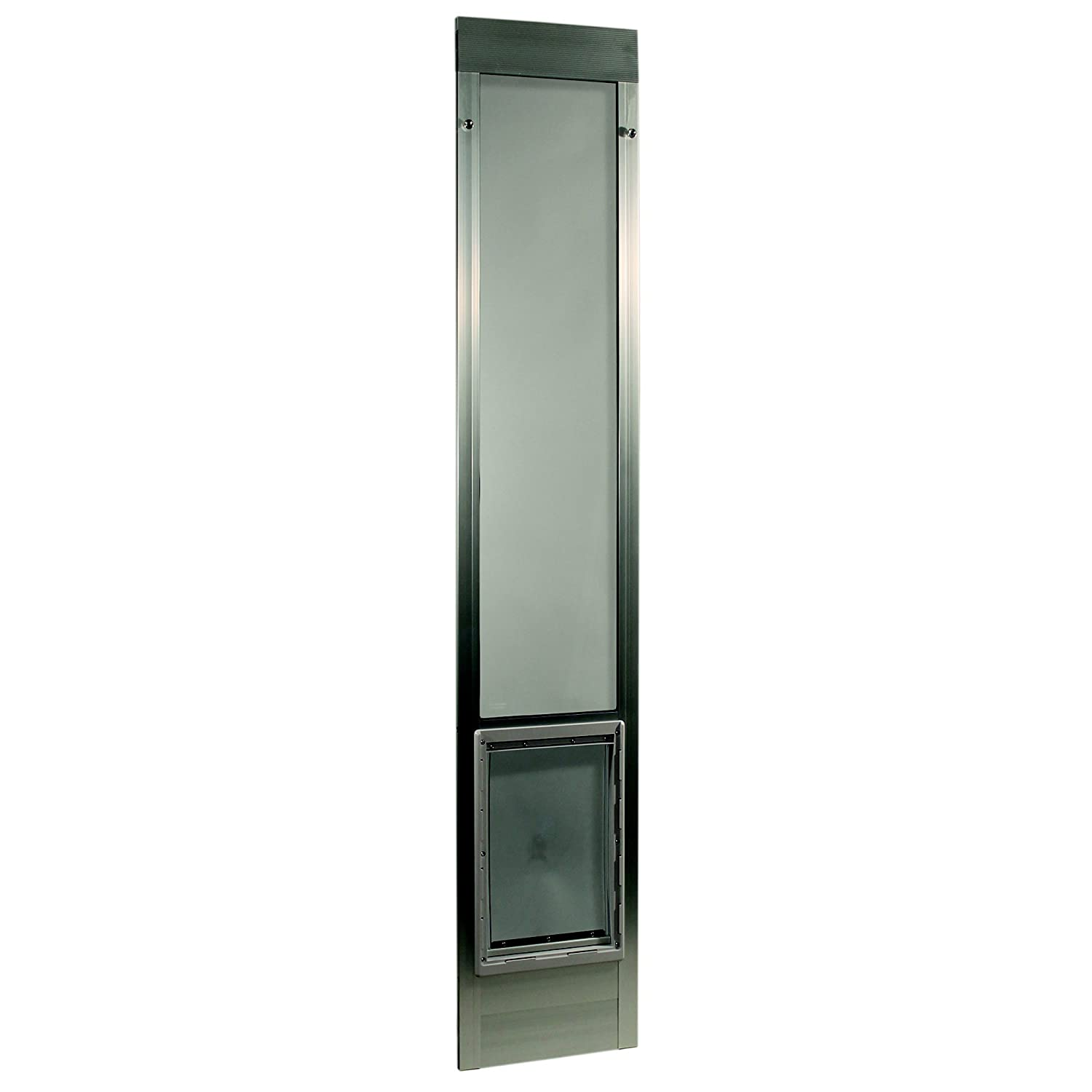 75  Fast Fit Pet Patio Door with Extra Large 10 1 2  x 15  Flap (Mill (aluminum))