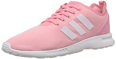 online store f6d2e 5529f adidas Damen ZX Flux Smooth Sneakers Pink (Super Pop F15 Core White Core