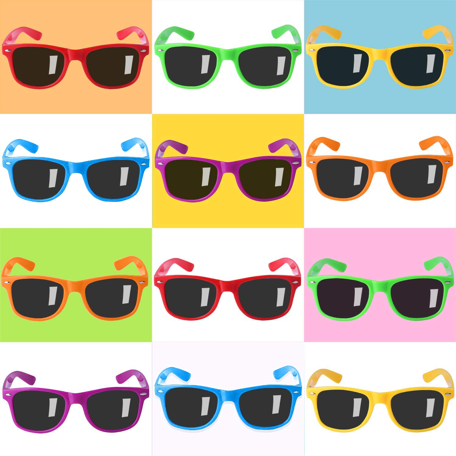 Party Sunglasses for Kids with UV400 Protection Eyewear Neon Sunglasses For Boys ,Girls - Great Gift for Party Favors, Birthday Party and Outdoor ...