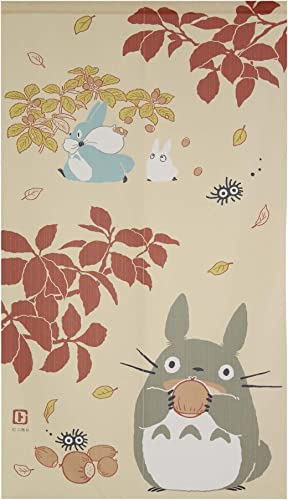 Japanese Noren Curtain Tapestry Totoro Forest Size 85 150cm 10-318