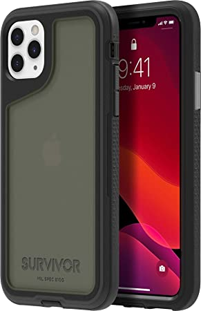 Griffin Survivor Extreme Case For Apple Iphone 11 Pro Max 6 5 Inches Black Transparent 4 5 M Drop Resistant I Military Standard I Extremely Durable Mobile Phone Case Gip 035 Bkg Elektronik