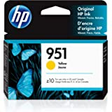 HP 951   Ink Cartridge   Yellow   Works with HP OfficeJet Pro 251dw, 276dw, 8600 Series, 8100   CN052AN