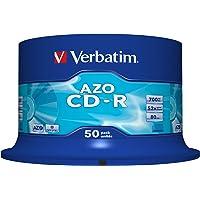 Verbatim 43343 700MB 52x CD-R AZO Crystal 50 Pack Spindle