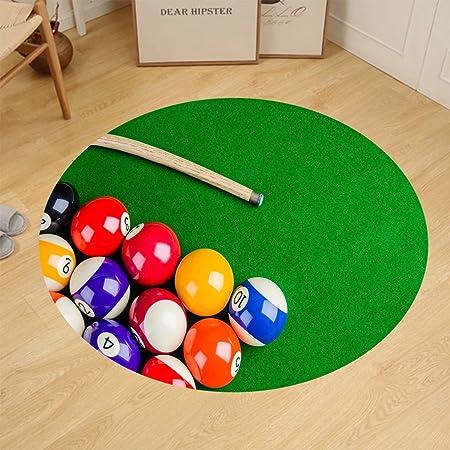 binpon123 Custom Alfombra de Suelo Redonda Bolas de Billar en Verde Mesa de Billar Snooker Piscina Juego: Amazon.es: Hogar