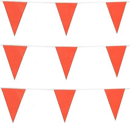 Orange 20 Flag Plastic 10 Metre Bunting Flags Party Decoration Celebration