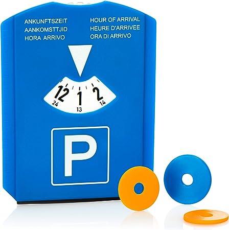 Com Four 1x Parkscheibe Mit Eiskratzer Gummilippe Und Einkaufswagenchips Parkuhr Aus Kunststoff 01 Stück Parkscheibe Mit Chip Auto