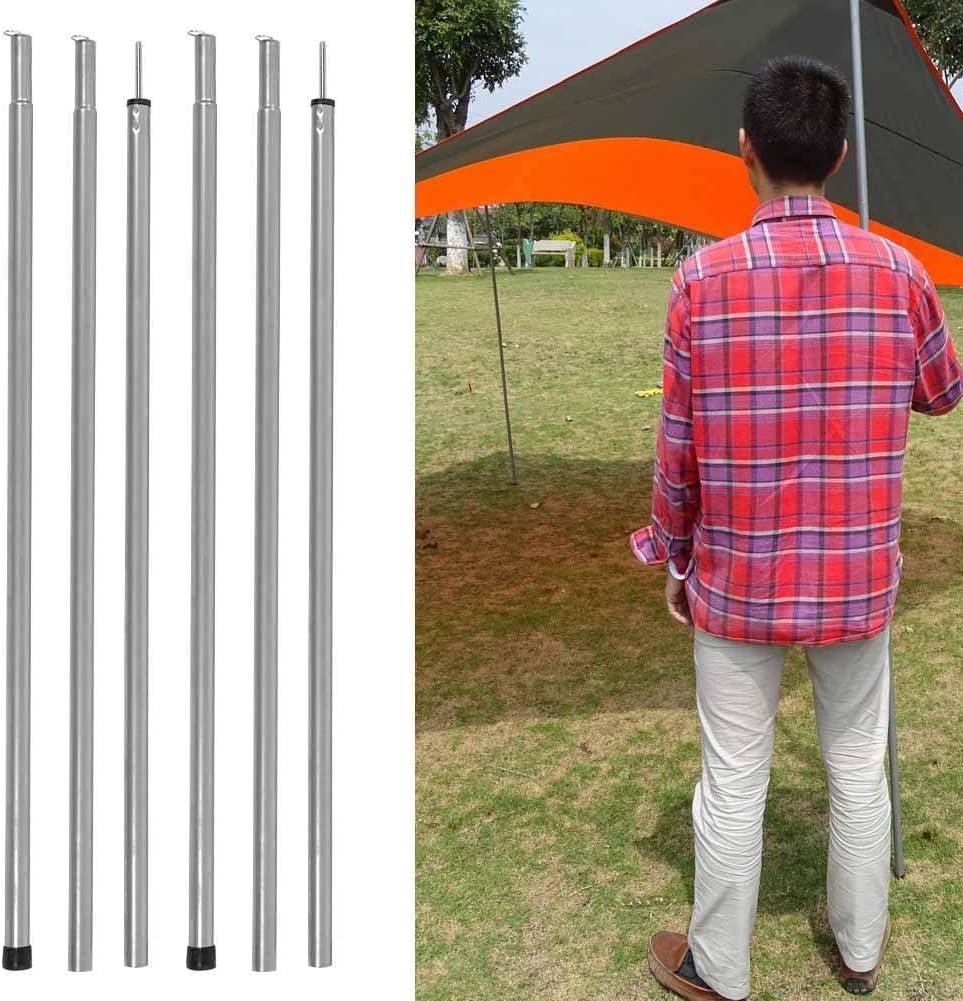 Alomejor Carpa Poste 4.9M Fibra de Vidrio 2 Varas Juego de Marcos para toldos para Acampar al Aire Libre Soporte