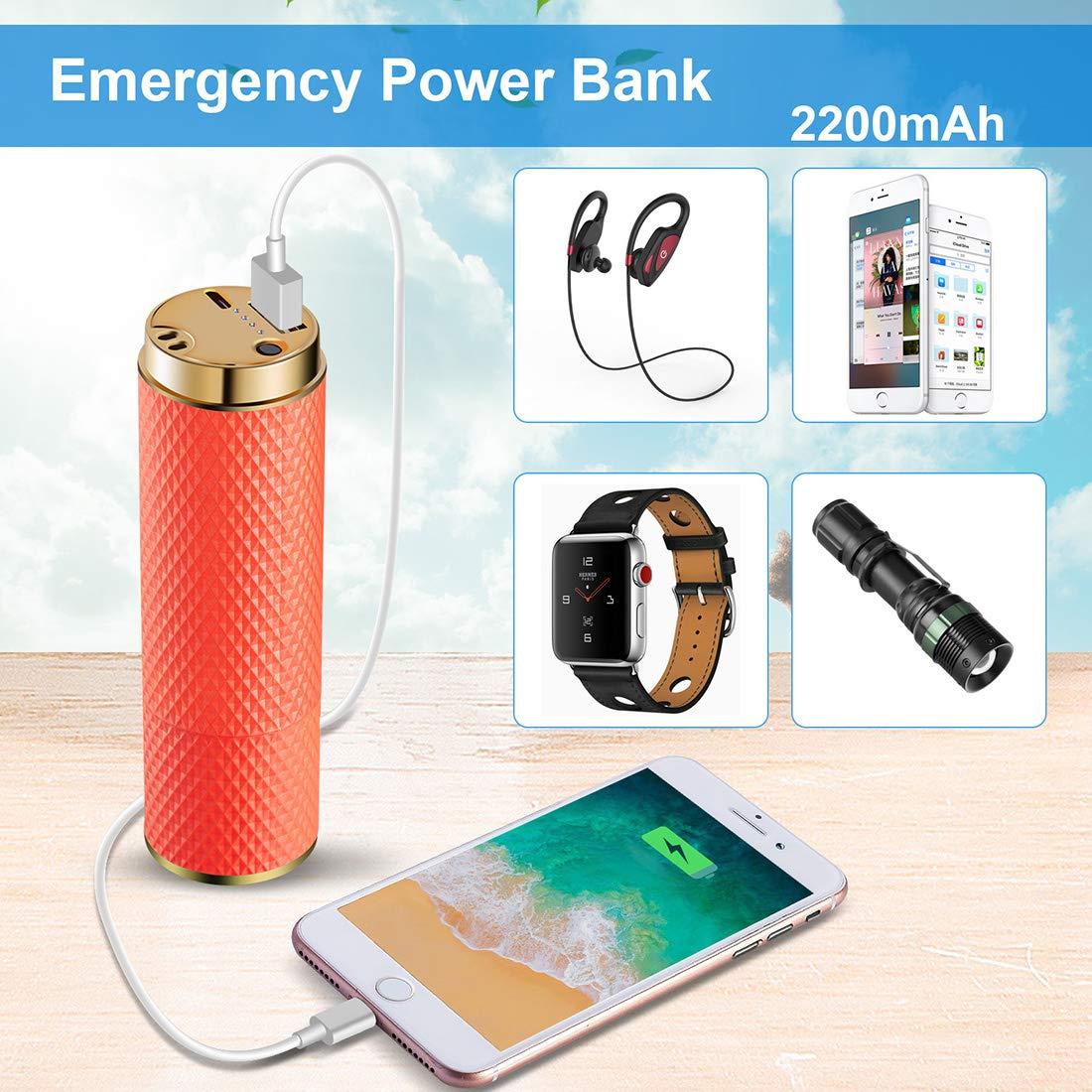 Ventilatore portatile ricaricabile C/&Xanadu batteria 2200mAh Colore sfumato mini ventole USB 8-12 ore di durata Ventilatore rinfrescante per donne viaggi//shopping//calcio