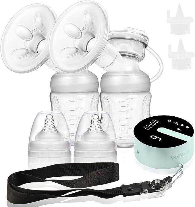 LED /Écran Portable et Silencieux Pompe d/'Allaitement en Mat/ériel sans BPA amzdeal Tire-Lait /Électrique Tire-Lait /Électrique Double avec 4 Modes et 16 Niveaux de Succion Rechargeble USB