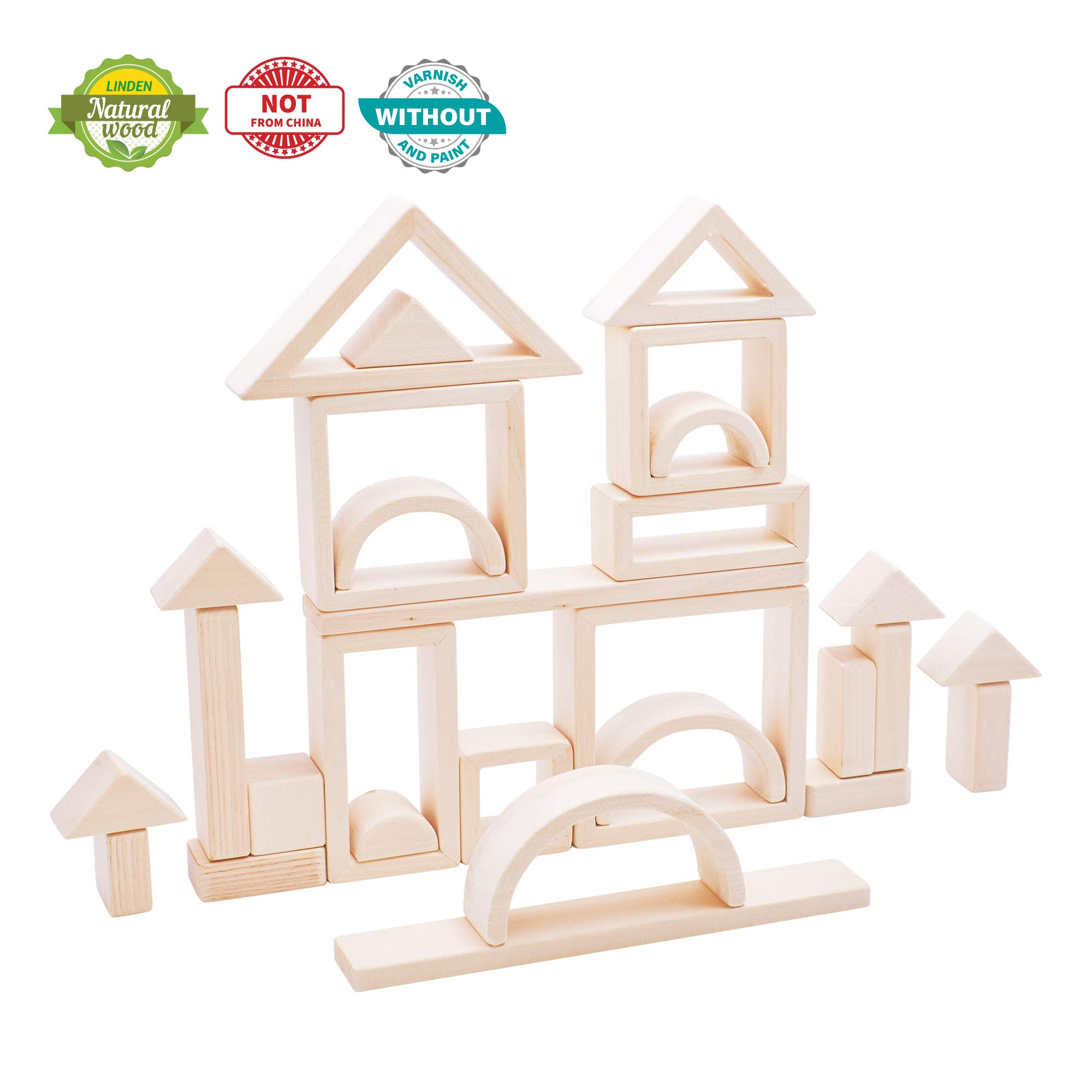 Kubi Dubi Wooden blocks For Toddlers - Building Educational Toys. Each learning Wood Block Like Pythagoras Builds Imagination, Habits to Succeed. Invest In Your Kids Today. Fit to 3-7 year old.