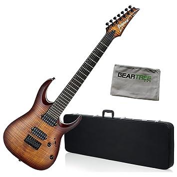 Ibanez rga742fmdef RGA estándar (7 cuerdas Guitarra eléctrica - ráfaga de ojo de dragón soporte de W/Carcasa rígida y gamuza de geartree: Amazon.es: ...
