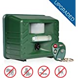 Yard Sentinel RC - Ultrasonic Animal Pest Repeller with Motion Detector, 4 Key Remote, Strobe & New Sonic harassment & Predator Sound
