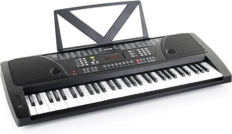 Kirstein Fun teclado 61 teclas incl. alimentación y deposito para notas negro