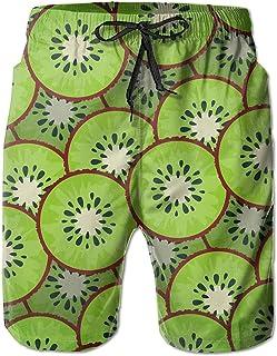 ZKHTO Kiwi Pattern Custom Summer Casual Beach Shorts Pants for Men Boys