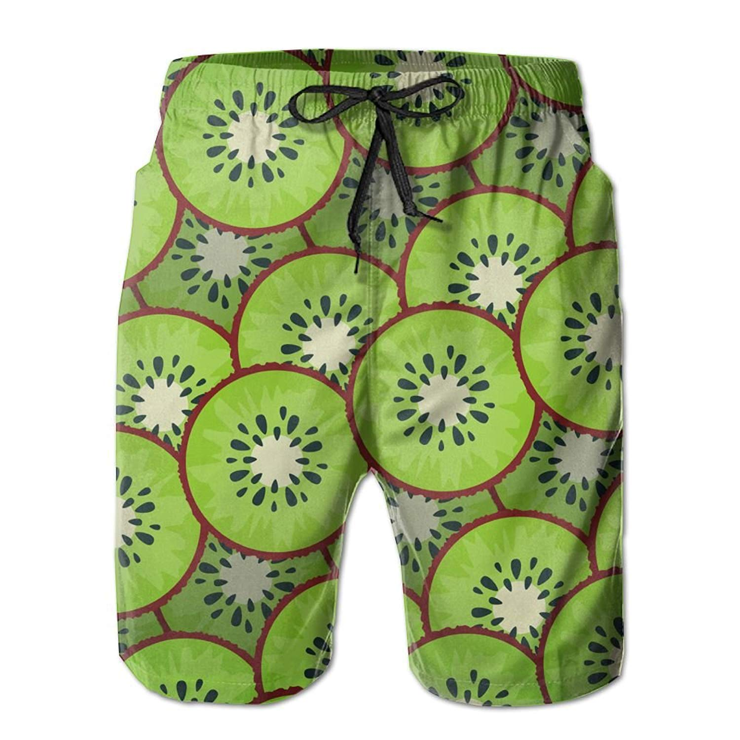 ZKHTO Kiwi Pattern Custom Summer Casual Beach Shorts Pants for Men Boys