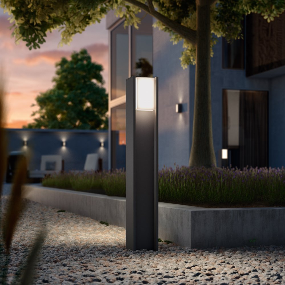 Philips Hue LED Wegeleuchte Turaco Anthrazit inkl. Hue White | Hue-Außenleuchte, Stehleuchte, Outdoor [Energieklasse A]