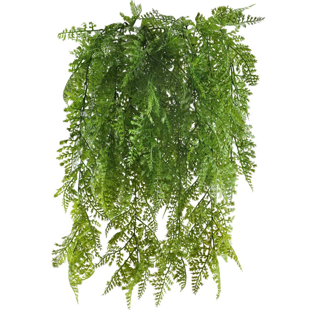 Huaesin 2pcs Fake Hanging Plant Artificial Greenery Plants Faux Vines Plastic Trailing Plants For Indoor Outside Wedding Fence Balcony Hanging Basket Decor Green Buy Online In Cayman Islands At Cayman Desertcart Com Productid