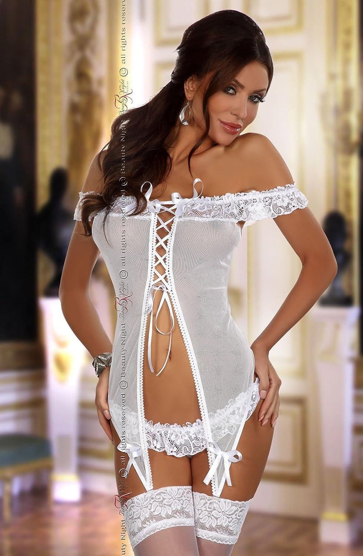 495ef8bcad Consuela Chemise in White by Beauty Night  Amazon.co.uk  Clothing
