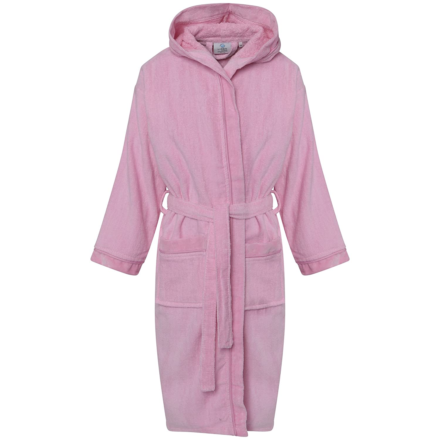 Kids Childrens 100/% Cotton Bathrobe Terry Towelling Hooded Bath Robe Gown 1-12
