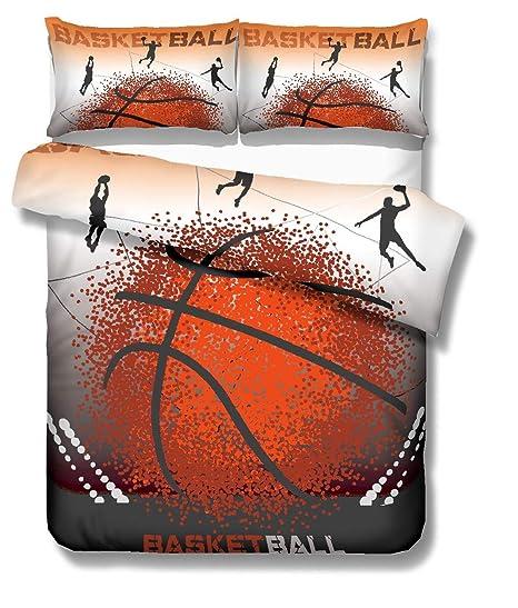 Stillshine Funda nórdica Cama 90 cm 3D Baloncesto Estilo Deportivo ...
