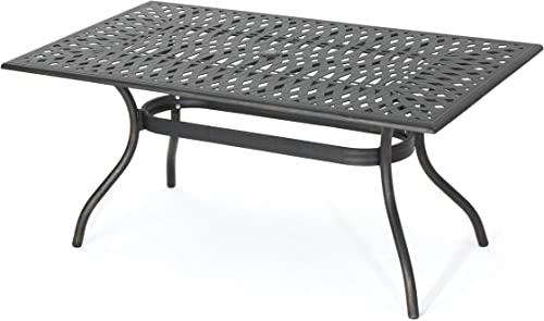 Christopher Knight Home 300672 Augusta Outdoor Cast Aluminum Dining Table Perfect for Patio in Shiny Copp, Copper