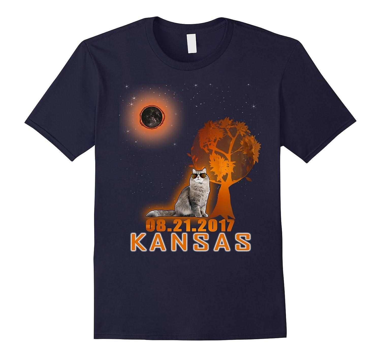 Cat Kansas Total Solar Eclipse 2017 funny T-Shirt-Art